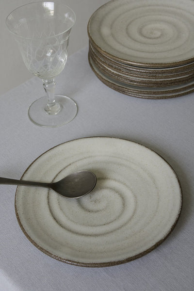 White Pottery Dessert Plate - Mad About Pottery - plates