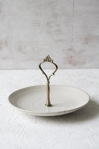 White Tier Pottery Stand - Mad About Pottery - plates