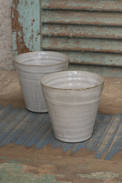 White Tumblers, 10 fl. oz / 300 ml - Mad About Pottery- Mugs and Cups