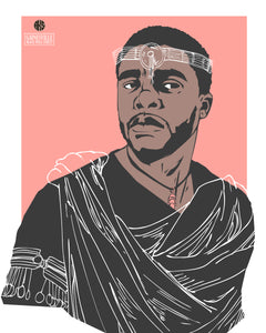 """King T'Challa"" - Limited Edition  Vibranium Print (8x10 or 11x14)"