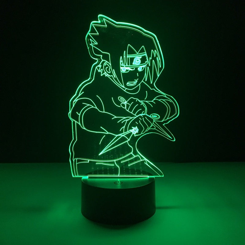 naruto sasuke led lamp night light anime merchandise accessories