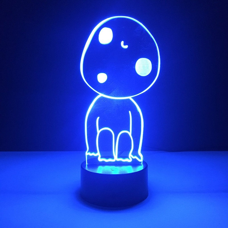 studio ghibli kodama led lamp night light anime merchandise accessories