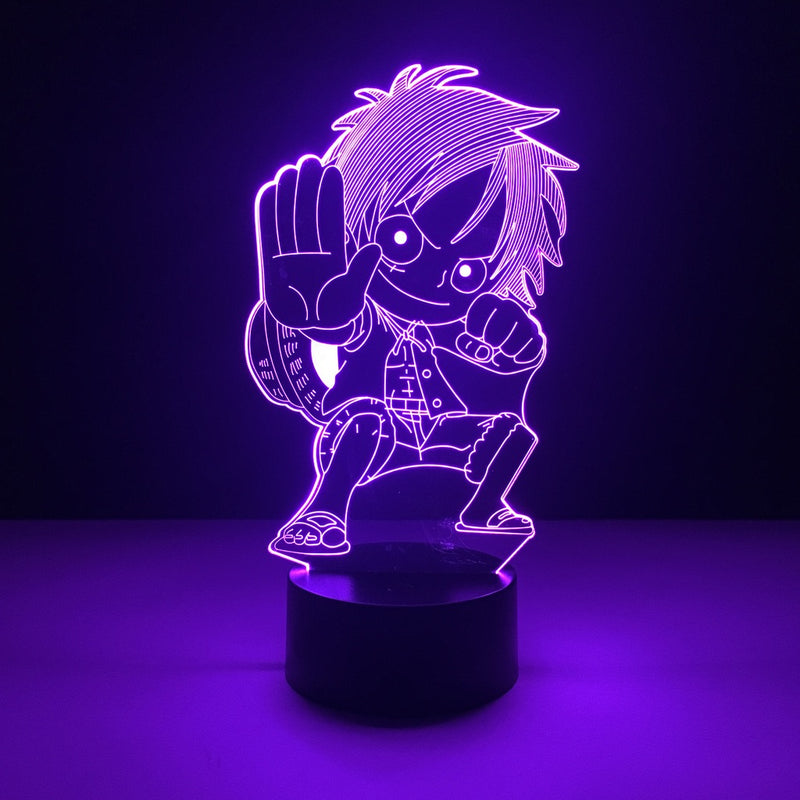 one piece luffy chibi led lamp night light anime merchandise accessories