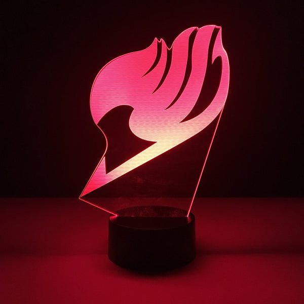 fairy tail led lamp night light anime merchandise accessories