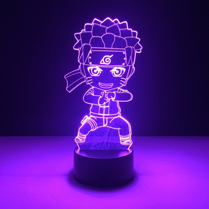 naruto chibi led lamp night light anime merchandise accessories