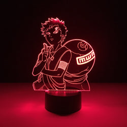 naruto gaara led lamp night light anime merchandise accessories