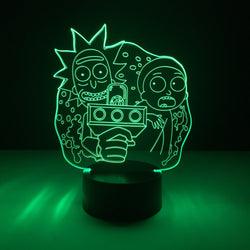 rick morty led lamp night light tv show merchandise accessories