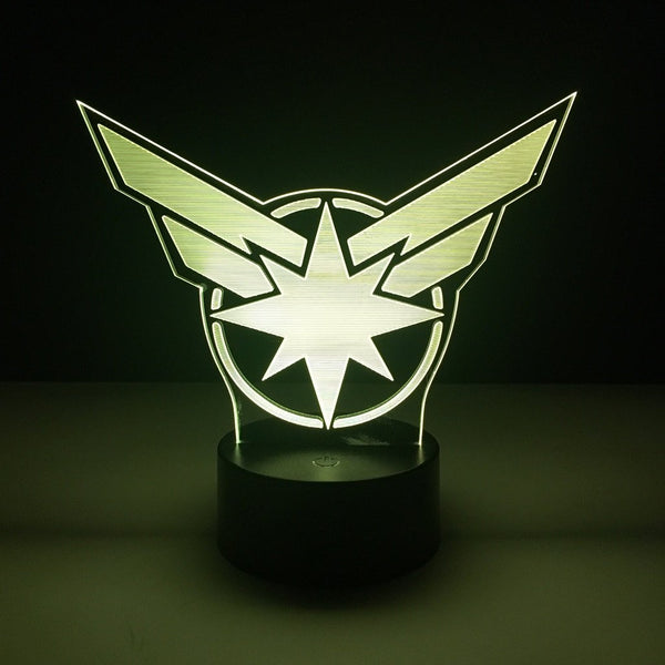 avengers captain marvel led lamp night light comic merchandise accessories