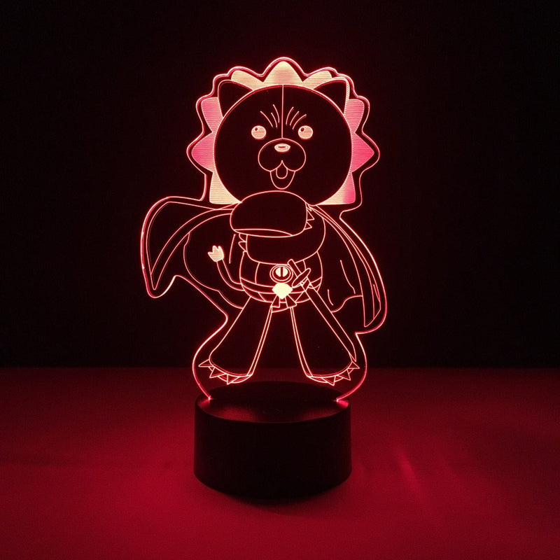 bleach kon led lamp night light anime merchandise accessories