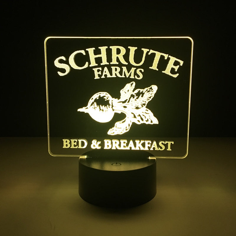 the office schrute farms led lamp night light tv show merchandise accessories