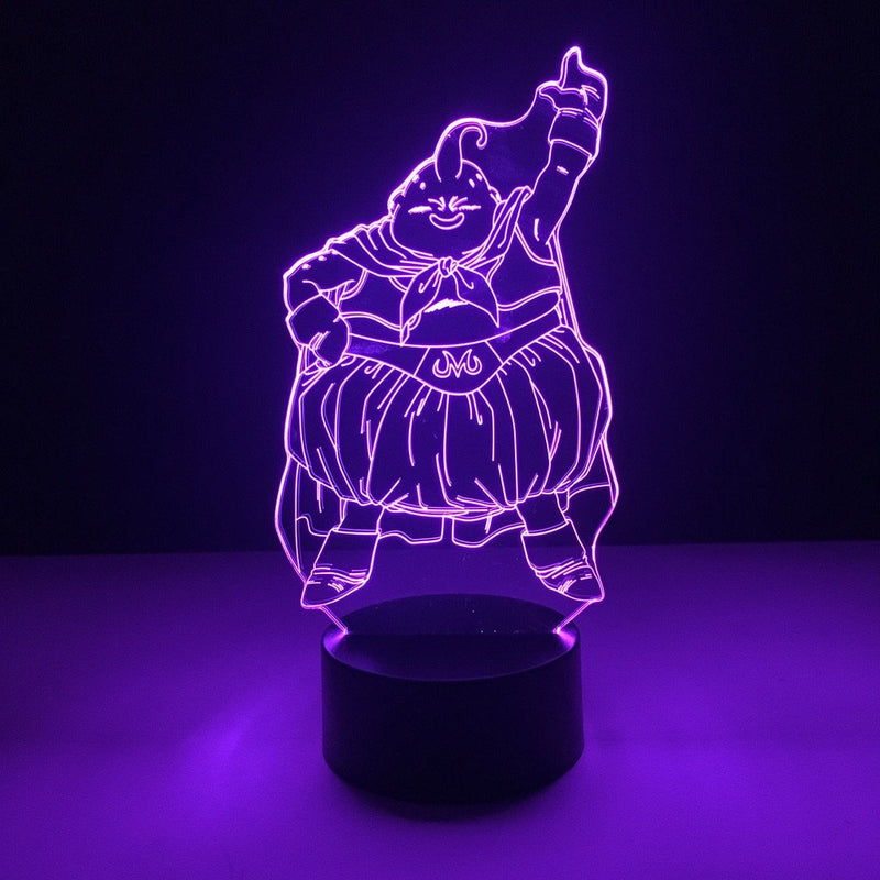 dragon ball majin buu led lamp night light anime merchandise accessories