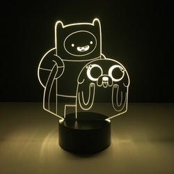 adventure time led lamp night light tv show merchandise accessories