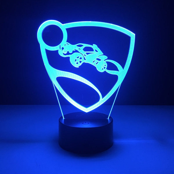rocket league led lamp gaming night light