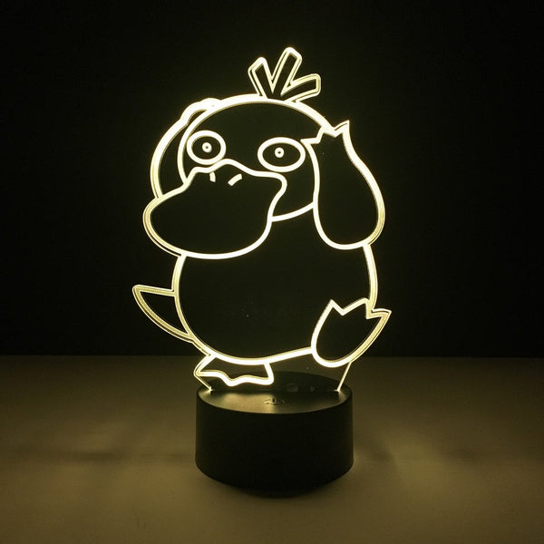 pokemon psyduck led lamp night light gaming merchandise accessories