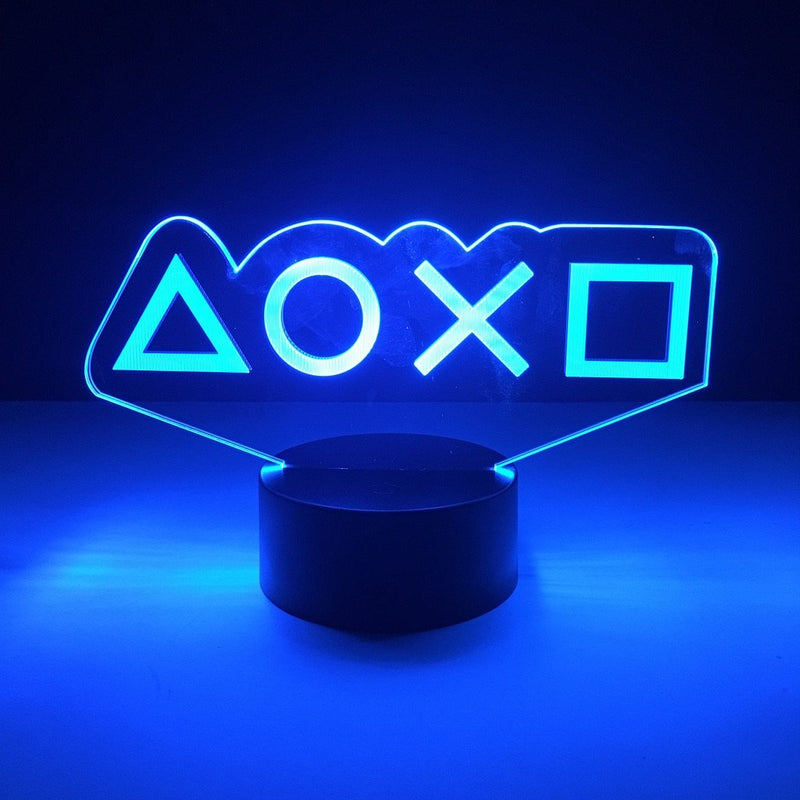 playstation controller buttons led lamp night light gaming merchandise accessories