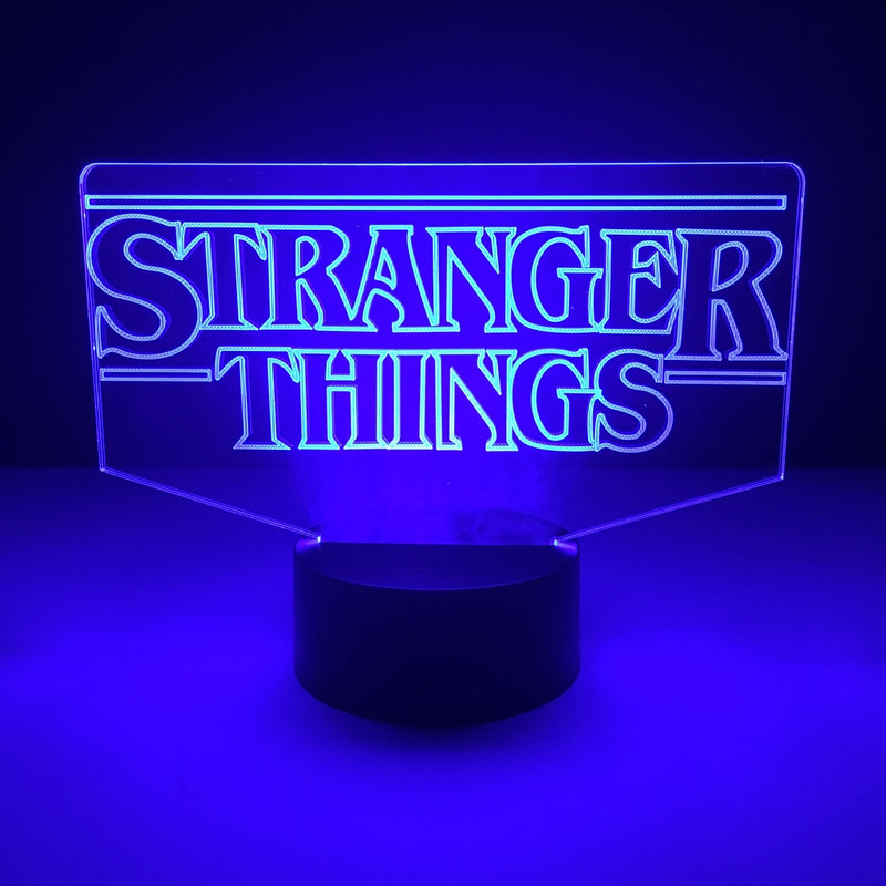stranger things led lamp night light tv show merchandise accessories