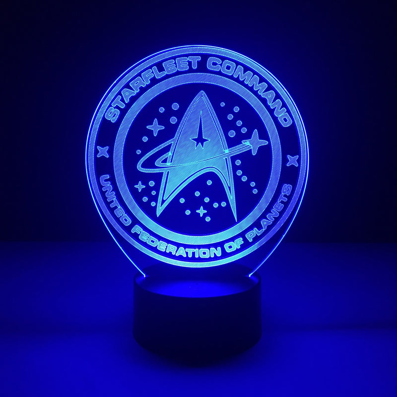 star trek starfleet led lamp night light tv show merchandise accessories