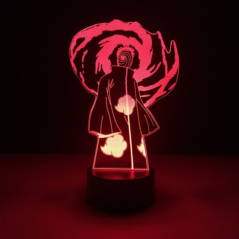 naruto obito tobi led lamp night light anime merchandise accessories