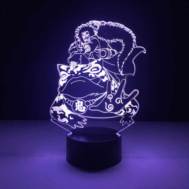 naruto jiraiya led lamp night light anime merchandise accessories