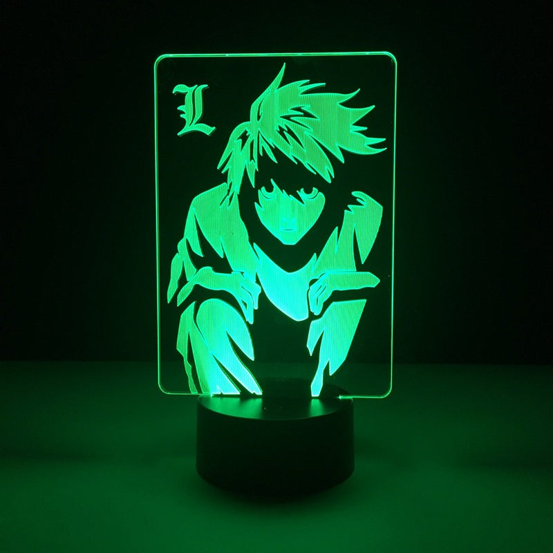 death note l led lamp night light anime merchandise accessories