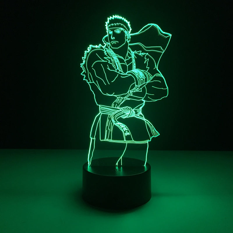 street fighter ryu led lamp night light anime merchandise accessories