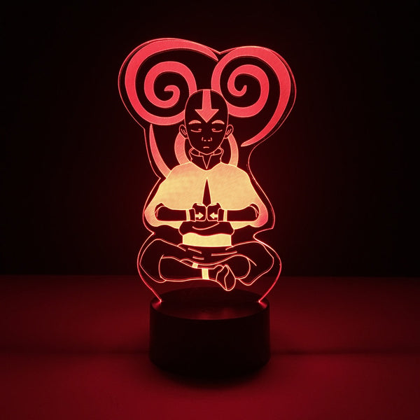 avatar last airbender aang led lamp night light tv show merchandise accessories