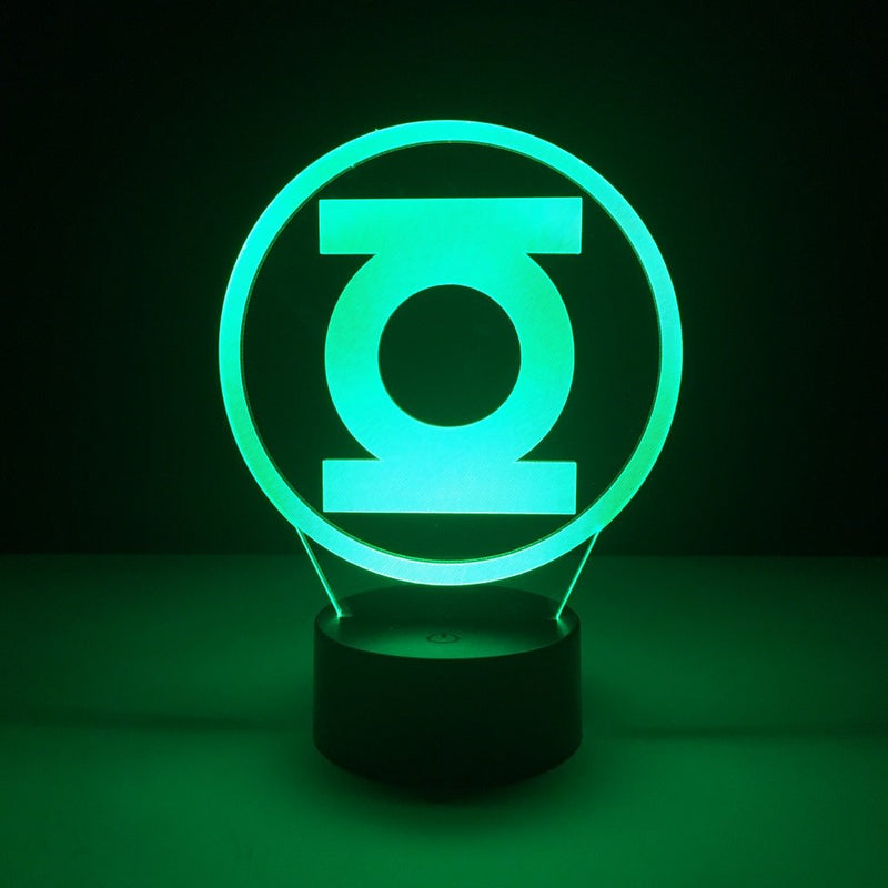 dc comics green lantern led lamp night light comic merchandise accessories