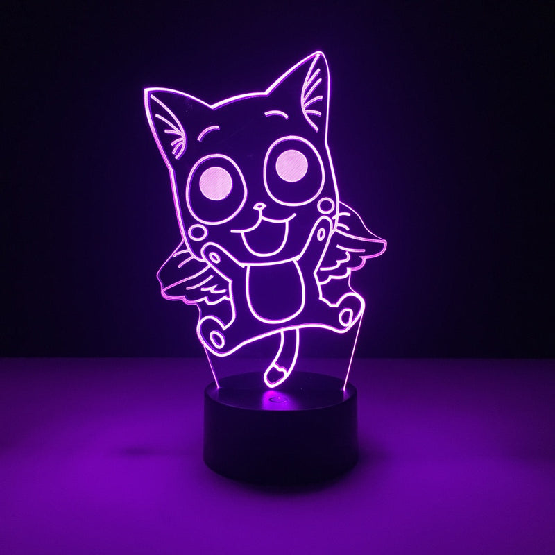 fairy tail happy led lamp night light anime merchandise accessories