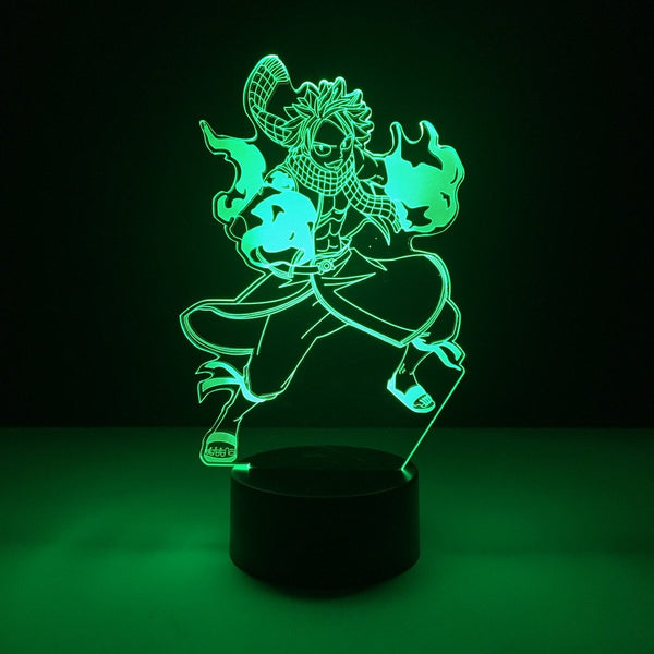 fairy tail natsu led lamp night light anime merchandise accessories