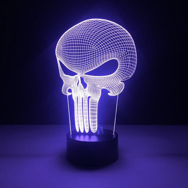marvel punisher led lamp night light comic merchandise accessories