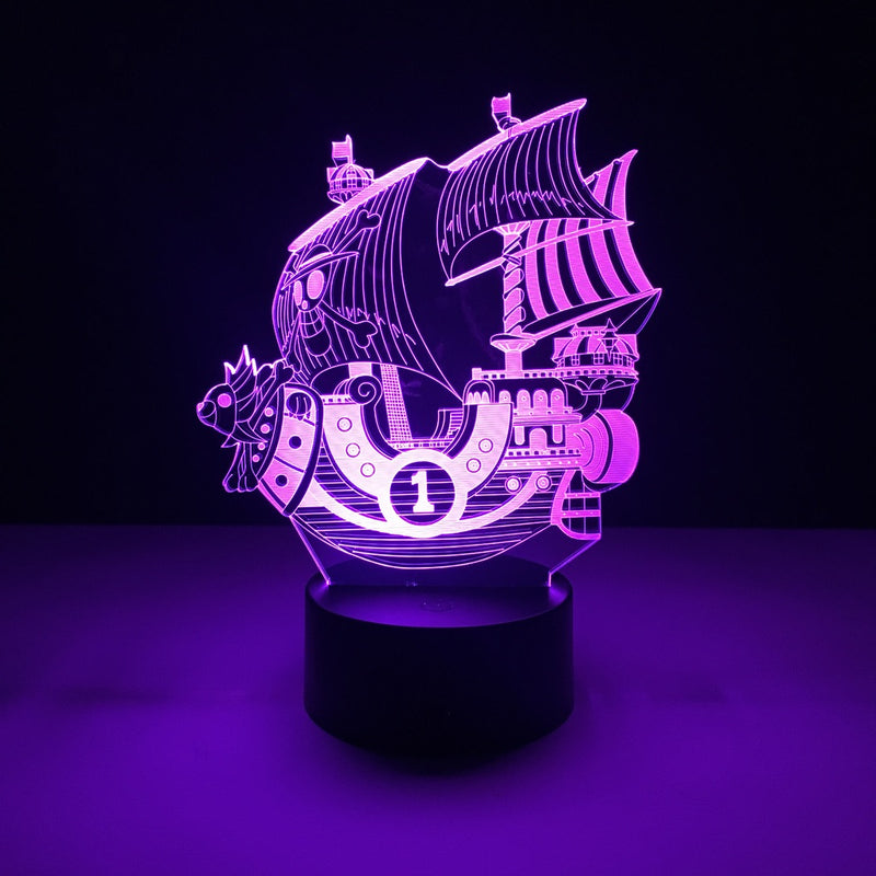one piece thousand sunny led lamp night light anime merchandise accessories