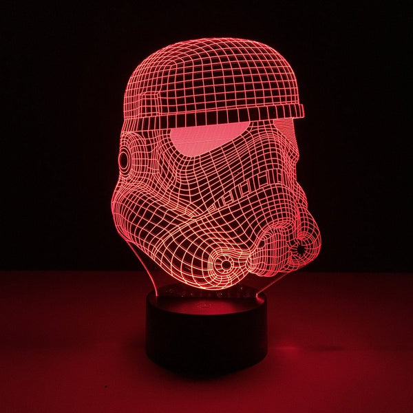 star wars stormtrooper helmet led lamp night light movie merchandise accessories