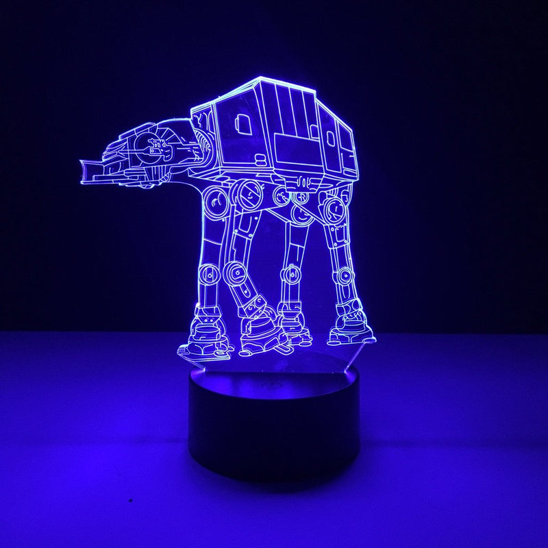 star wars at-at led lamp night light movie merchandise accessories