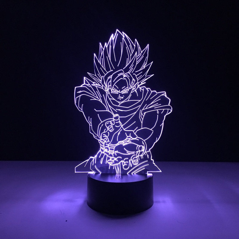 dragon ball goku kamehameha led lamp night light anime merchandise accessories