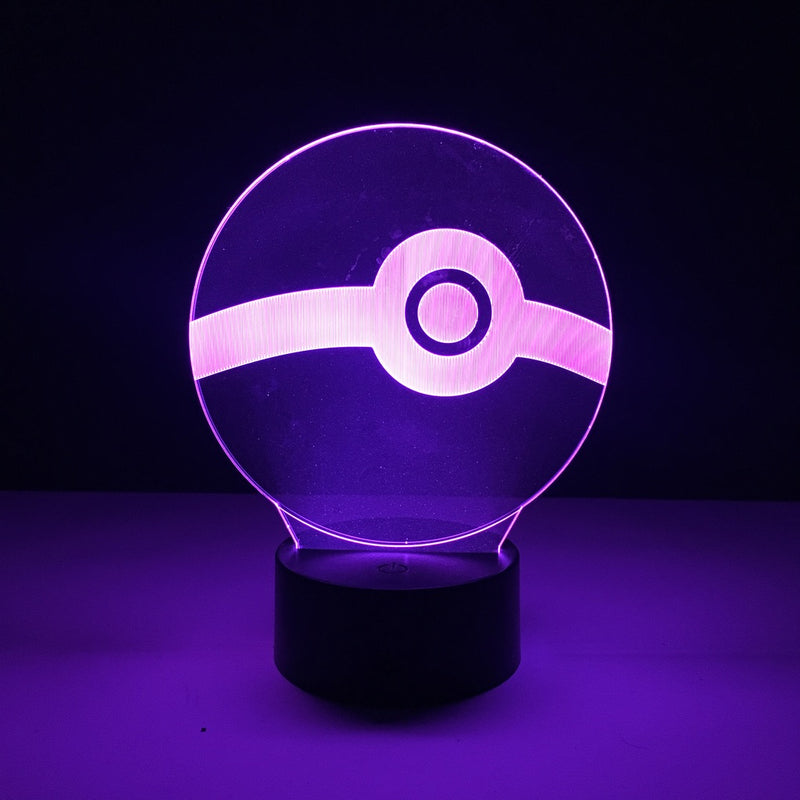 pokemon pokeball led lamp night light gaming merchandise accessories
