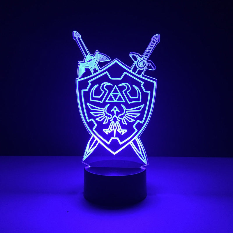 legend zelda hylian shield led lamp night light gaming merchandise accessories