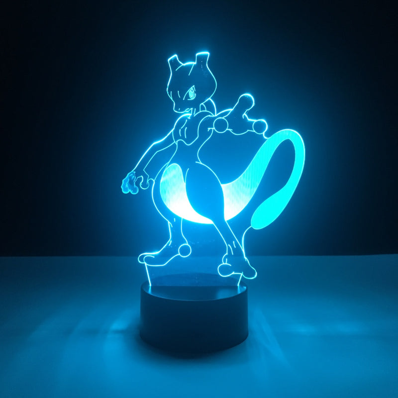 mewtwo pokemon led lamp