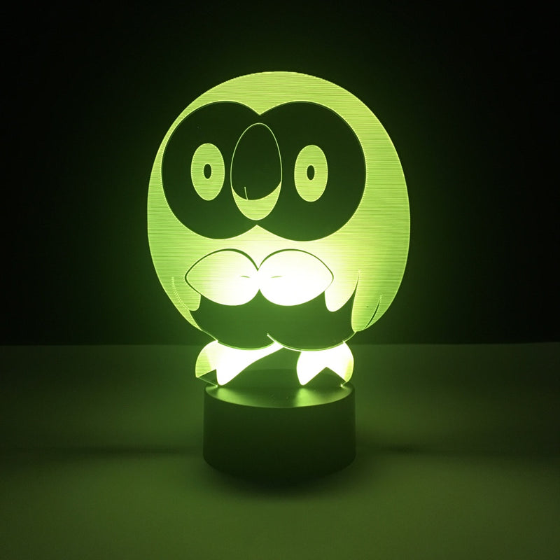 rowlet pokemon led lamp