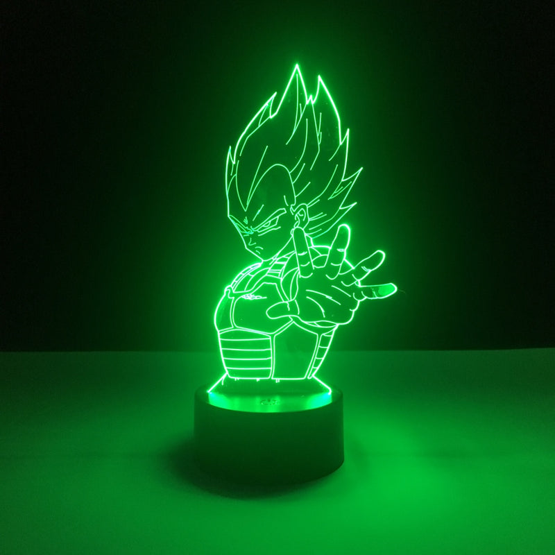 vegeta dragon ball led lamp