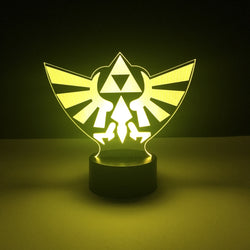 zelda triforce led lamp