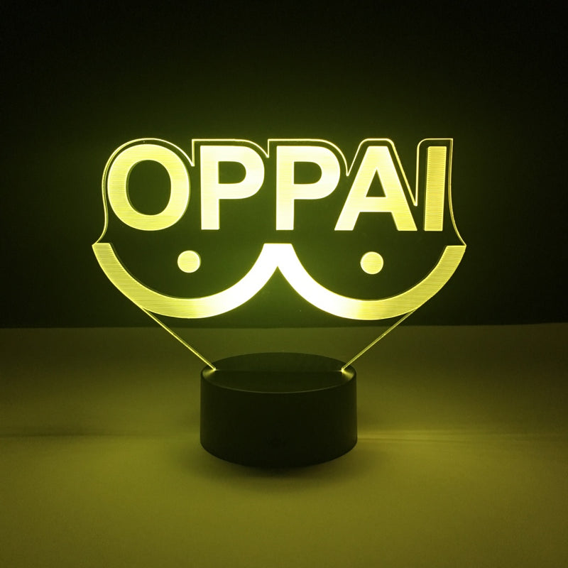 oppai one punch man led lamp