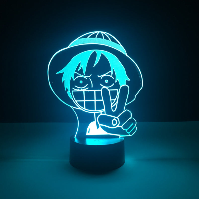 luffy one piece led lamp
