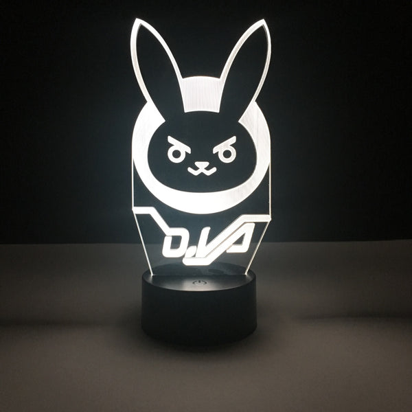 dva overwatch led lamp