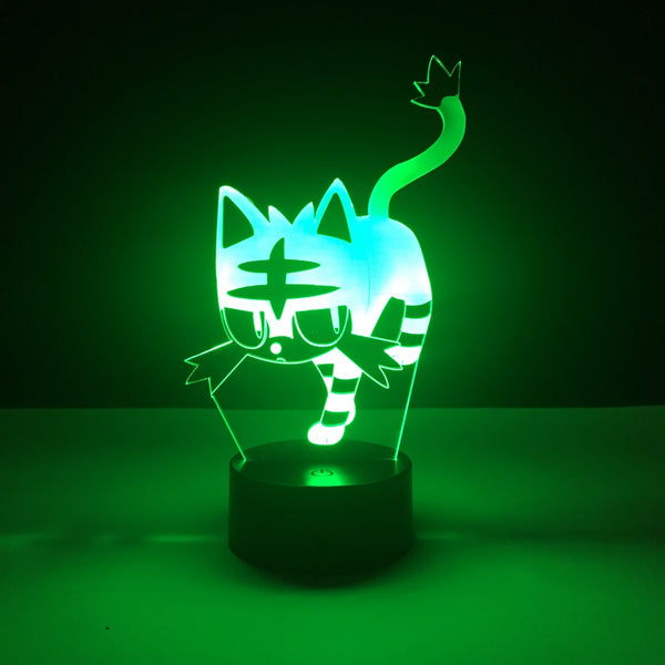 litten pokemon led lamp