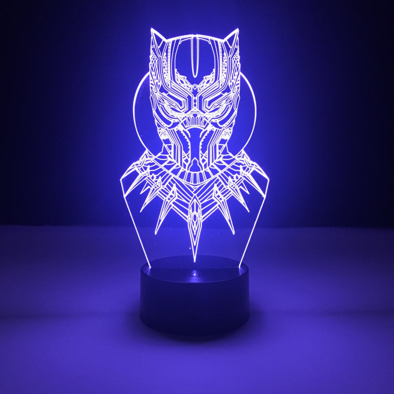 black panther marvel led lamp