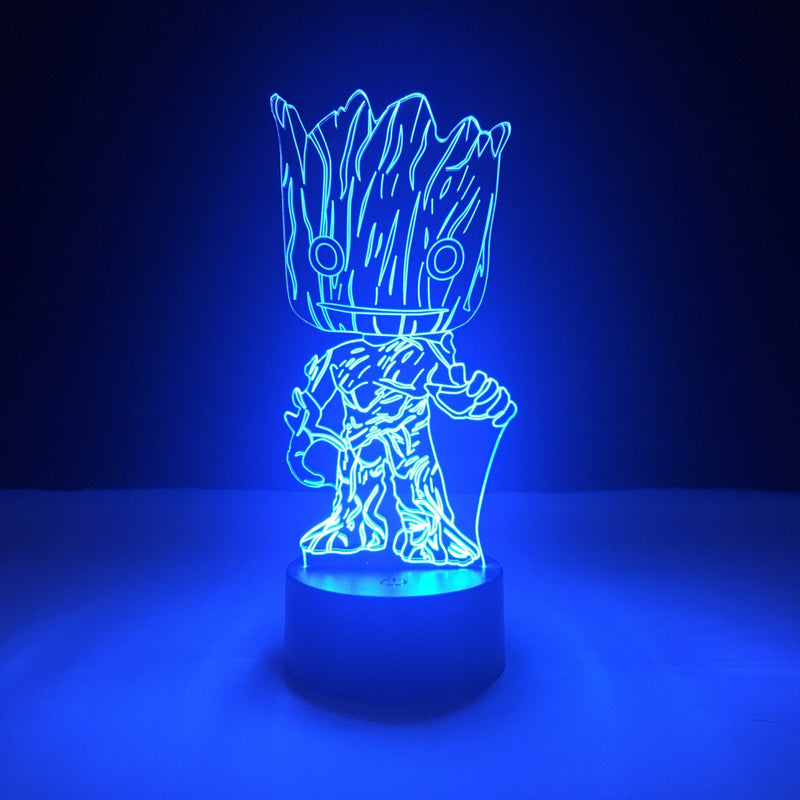 groot guardians of galaxy marvel led lamp