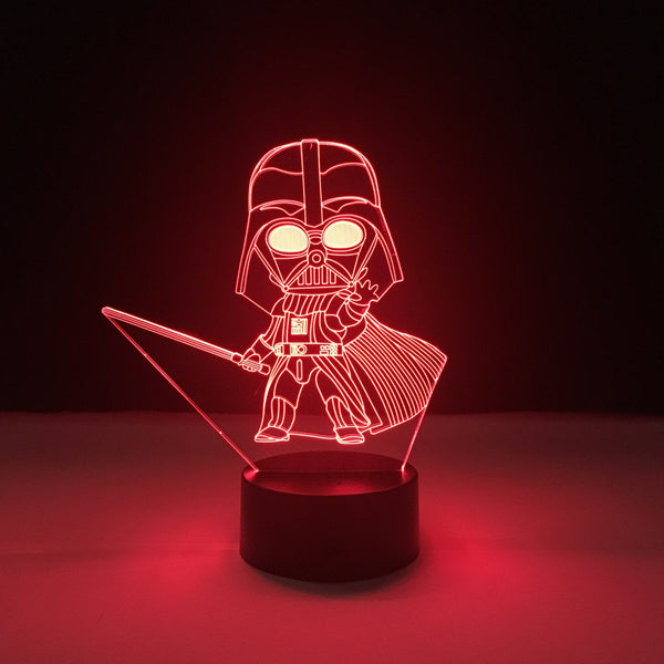 darth vader star wars led lamp