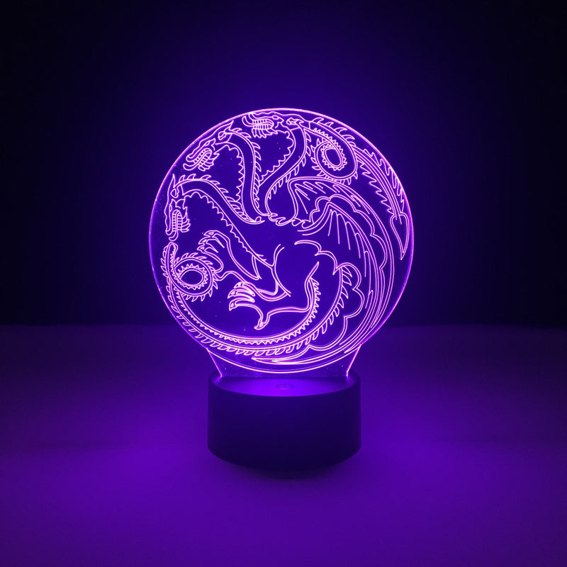 house targaryen game of thrones led lamp