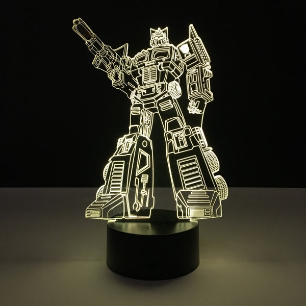 optimus prime transformers led lamp