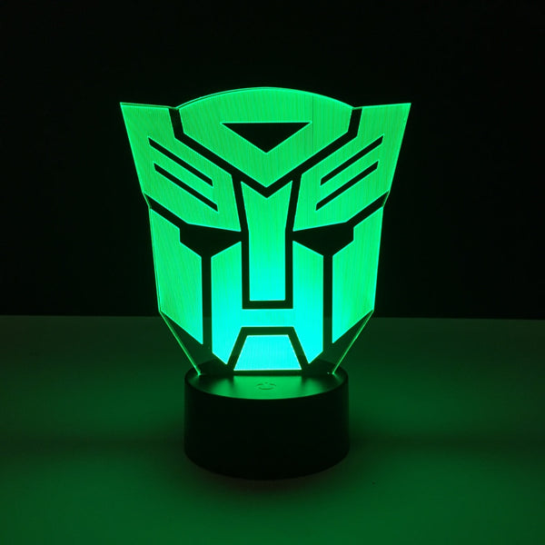 autobot transformers led lamp